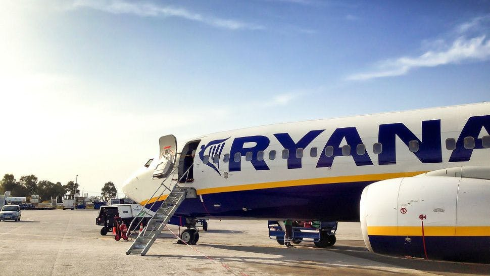 Mit Ryanair geht's garantiert günstig in den Urlaub.